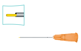 Dual Bore Cannula,Polyimide Tip