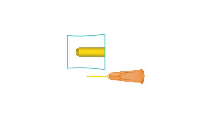 Silicone Injection Cannula, Polyimide Tip
